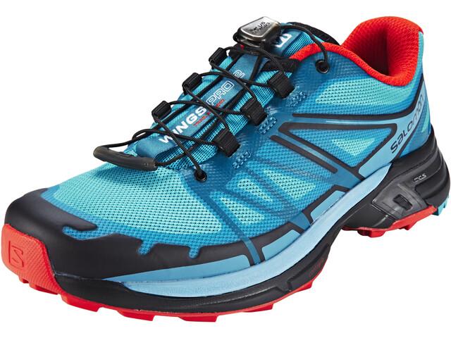 Salomon Wings Pro 2 Trailrunning Shoes Women blue jay/fog blue/lava orange